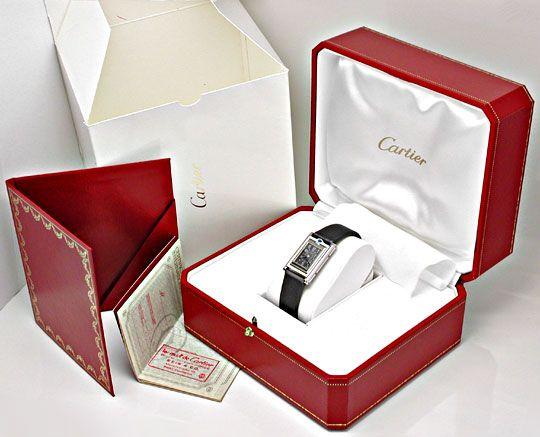 Foto 8, Cartier Basculante Medium Stahl Quarz Topuhr Ungetragen, U1931
