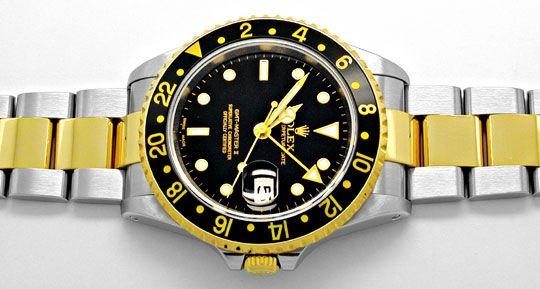 Foto 1, Rolex GMT 2 Armbanduhr Stahlgold Automatik Topuhr Neuz., U1932