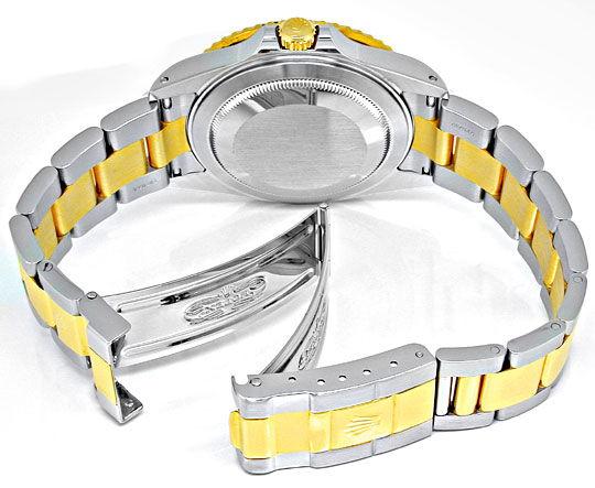 Foto 3, Rolex GMT 2 Armbanduhr Stahlgold Automatik Topuhr Neuz., U1932