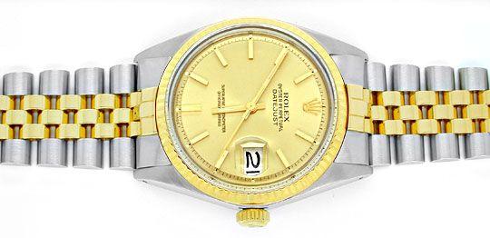 Foto 1, Rolex Datejust Herren Chronometer Stahlgold Topuhr Neuw, U1934