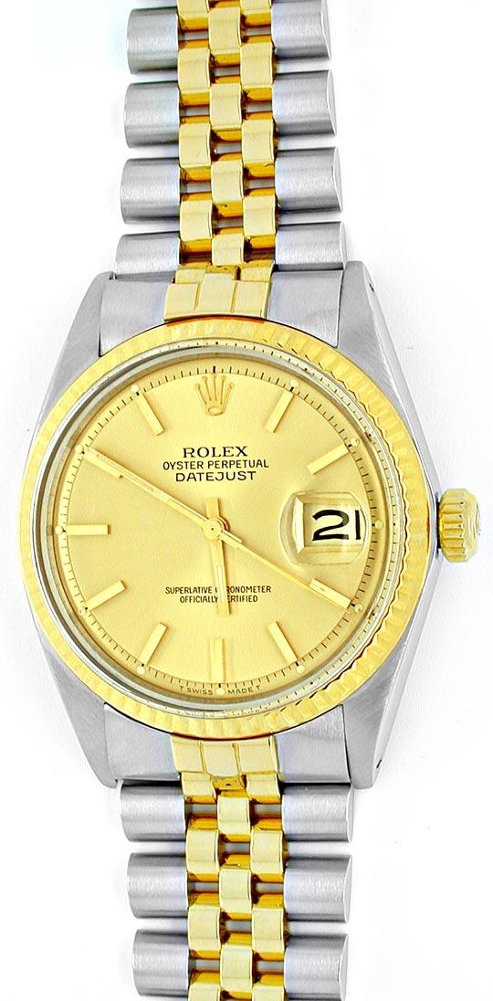 Foto 2, Rolex Datejust Herren Chronometer Stahlgold Topuhr Neuw, U1934