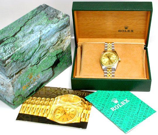 Foto 4, Rolex Datejust Herren Chronometer Stahlgold Topuhr Neuw, U1934