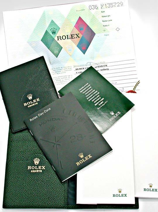 Foto 5, Orig.Rolex Daydate Weissgold Absolut Ungetragen Geprüft, U1939