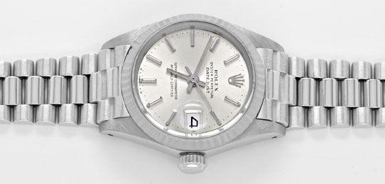 Foto 1, Rolex Datejust Damen-Armbanduhr Weissgold Geprüft Neuz., U1941