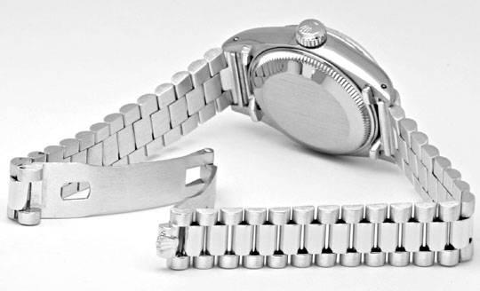 Foto 4, Rolex Datejust Damen-Armbanduhr Weissgold Geprüft Neuz., U1941