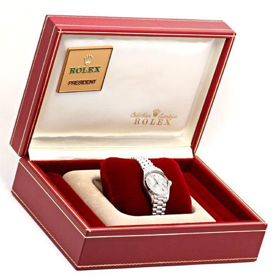 Foto 5, Rolex Datejust Damen-Armbanduhr Weissgold Geprüft Neuz., U1941