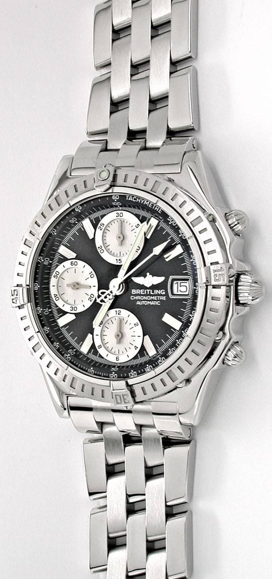 Foto 2, Breitling Chronomat Pilotband Chronometer Topuhr Neuz.!, U1942