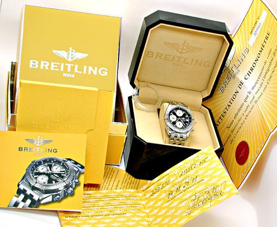 Foto 5, Breitling Chronomat Pilotband Chronometer Topuhr Neuz.!, U1942