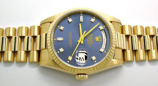 Foto 1, Rolex Day Date Automatik Diamant-Ziffern Geprüft Neuw.!, U1944
