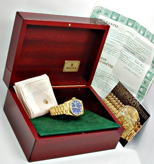 Foto 5, Rolex Day Date Automatik Diamant Ziffern Geprüft Neuw.!, U1944