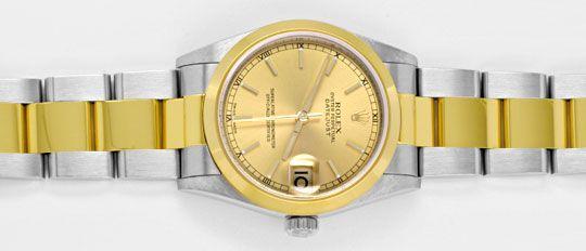 Foto 1, Rolex Datejust Medium Stahlgold Automatik Topuhr Neuz.!, U1947