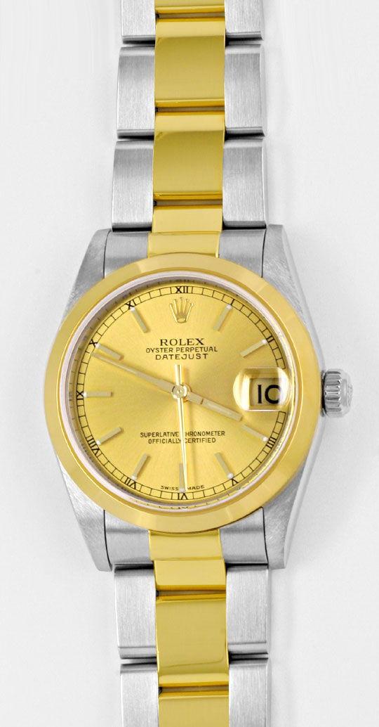 Foto 2, Rolex Datejust Medium Stahlgold Automatik Topuhr Neuz.!, U1947