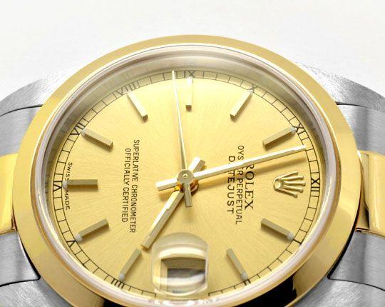Foto 3, Rolex Datejust Medium Stahlgold Automatik Topuhr Neuz.!, U1947