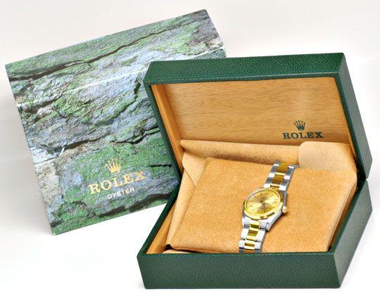 Foto 5, Rolex Datejust Medium Stahlgold Automatik Topuhr Neuz.!, U1947