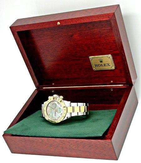 Foto 4, Ungetragene Rolex Daytona Cosmograph, Perlmutt, Geprüft, U1951