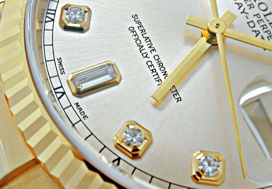 Foto 4, Ungetragene Rolex Daydate Gelbgold Diamantziff. Geprüft, U1952