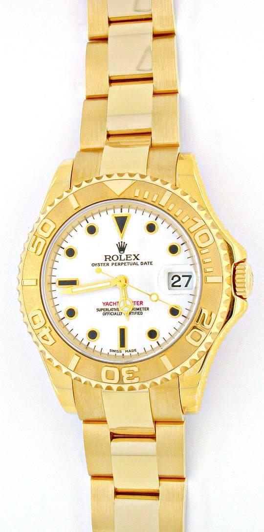 Foto 2, Ungetragene!! Rolex Yachtmaster Medium Gelbgold Geprüft, U1953