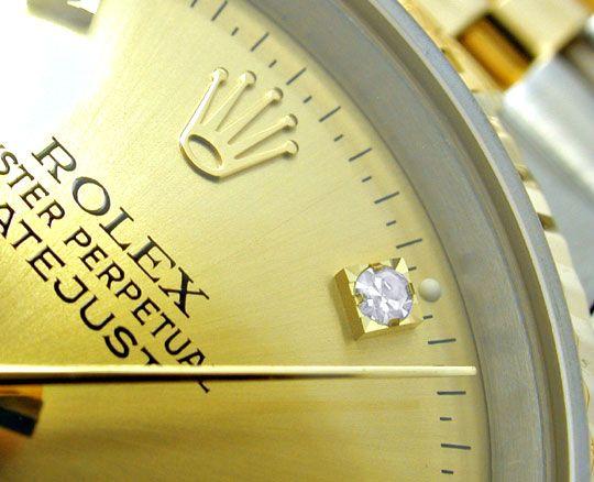 Foto 3, Rolex Datejust Herren Stahlgold Diamanten Topuhr Neuz.!, U1954