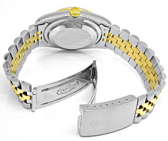 Foto 4, Rolex Datejust Herren Stahlgold Diamanten Topuhr Neuz.!, U1954