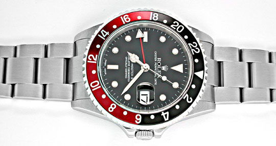 Foto 1, Ungetragene Rolex GMT Master 2 Stahl Oyster Lock Topuhr, U1955