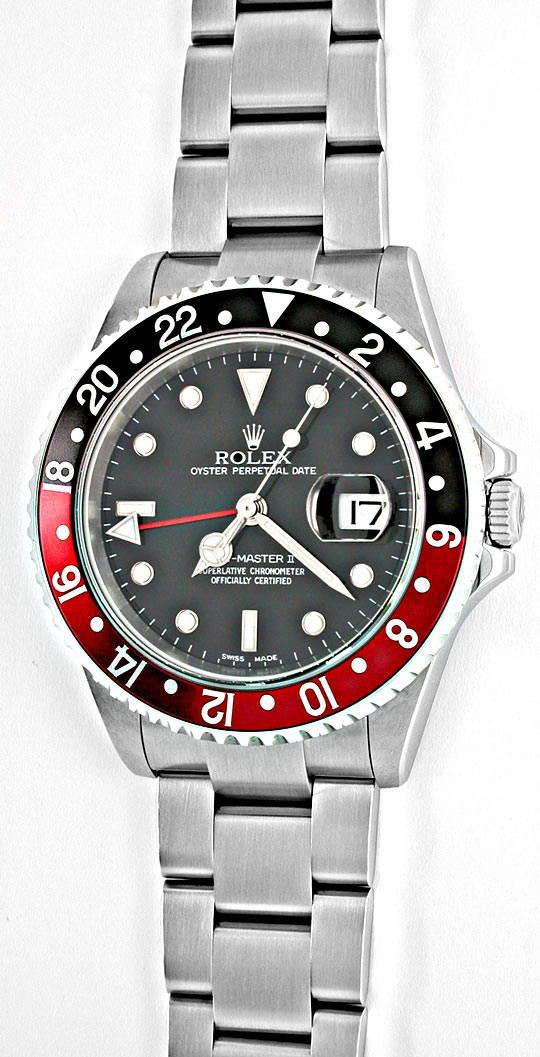 Foto 2, Ungetragene Rolex GMT Master 2 Stahl Oyster Lock Topuhr, U1955