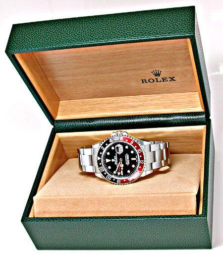 Foto 4, Ungetragene Rolex GMT Master 2 Stahl Oyster Lock Topuhr, U1955