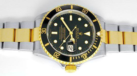 Foto 1, Ungetragene Rolex Submariner mit Datum Stahlgold Topuhr, U1956