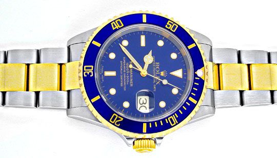 Rolex Submariner Gold Blau