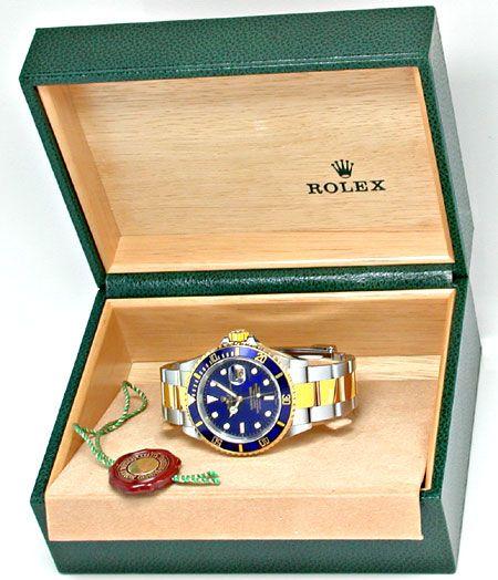 Foto 4, Rolex Submariner mit Datum Stahlgold Blau Topuhr Neuz.!, U1957
