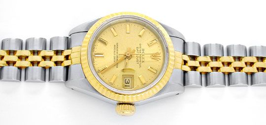 Foto 1, Rolex Datejust Damen-Armbanduhr Stahlgold Topuhr Neuw.!, U1963