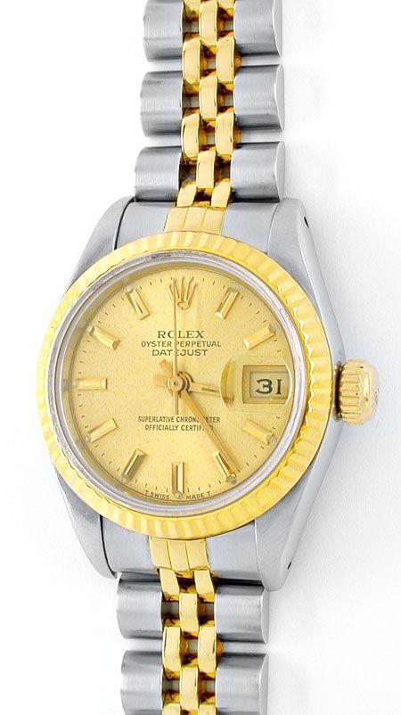 Foto 2, Rolex Datejust Damen-Armbanduhr Stahlgold Topuhr Neuw.!, U1963