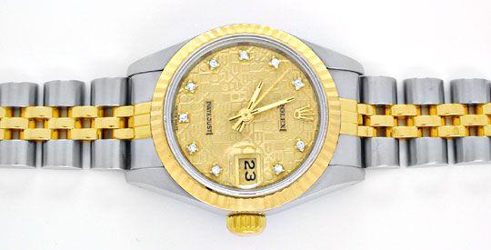 Foto 1, Rolex Datejust Damen Stahlgold Diamanten! Topuhr Neuw.!, U1964