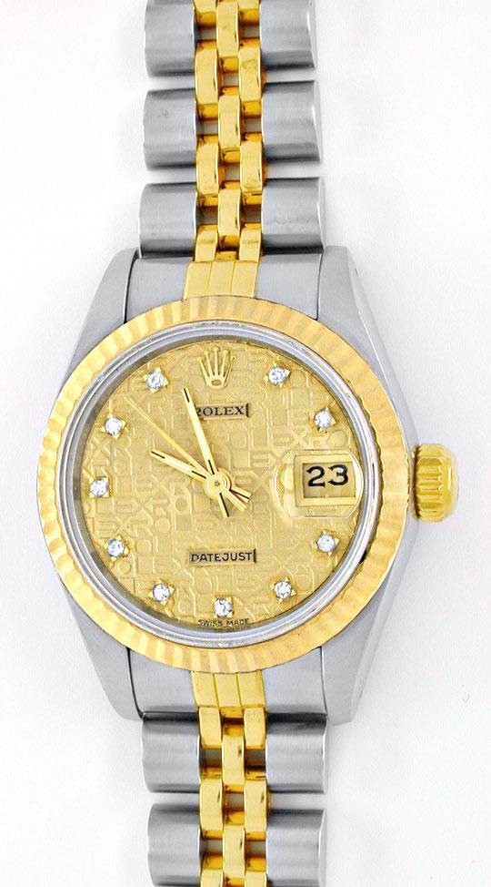 Foto 2, Rolex Datejust Damen Stahlgold Diamanten! Topuhr Neuw.!, U1964