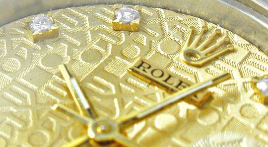 Foto 4, Rolex Datejust Damen Stahlgold Diamanten! Topuhr Neuw.!, U1964
