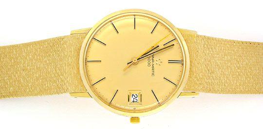 Foto 1, Eterna-Matic Herren-Armbanduhr massiv 18K Topuhr Neuw.!, U1965