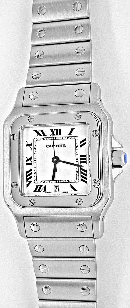 Foto 2, Cartier Santos Galbee Herren Armbanduhr ST Topuhr Neuz., U1968