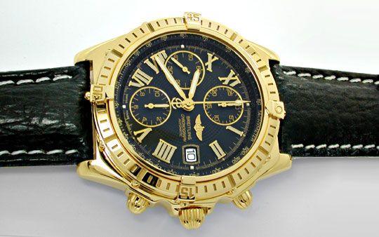 Foto 1, Breitling Crosswind Chronometer, Gelbgold Geprüft Neuz., U1973