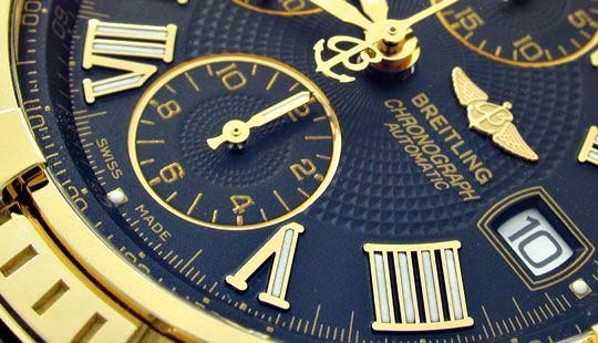 Foto 3, Breitling Crosswind Chronometer, Gelbgold Geprüft Neuz., U1973