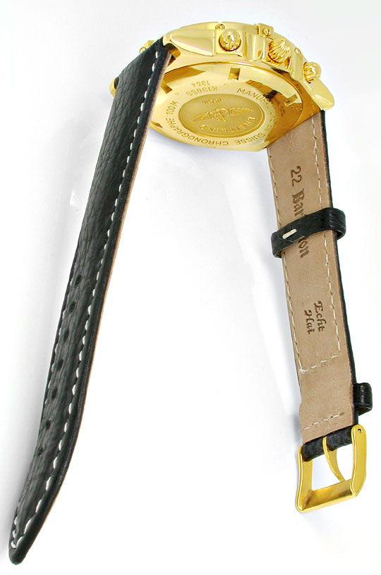 Foto 4, Breitling Crosswind Chronometer, Gelbgold Geprüft Neuz., U1973