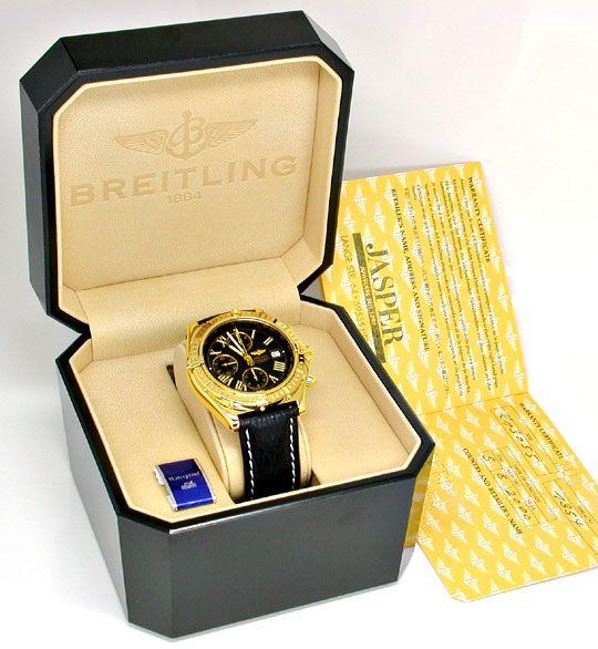 Foto 5, Breitling Crosswind Chronometer, Gelbgold Geprüft Neuz., U1973