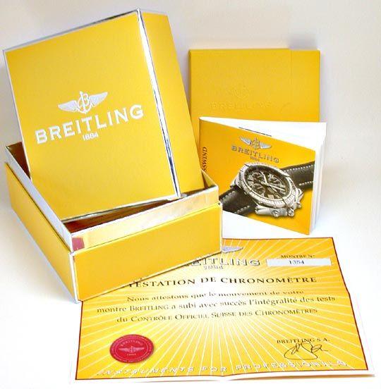 Foto 6, Breitling Crosswind Chronometer, Gelbgold Geprüft Neuz., U1973