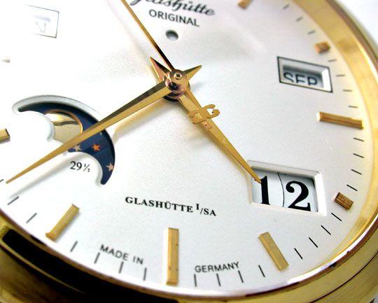 Foto 4, Glashütte Original Senator Ewiger Kalender Mond Geprüft, U1976