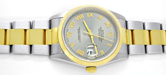 Foto 1, Rolex Datejust Oyster Herrenuhr Stahlgold Topuhr Neuz.!, U1982