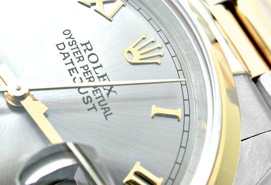 Foto 3, Rolex Datejust Oyster Herrenuhr Stahlgold Topuhr Neuz.!, U1982