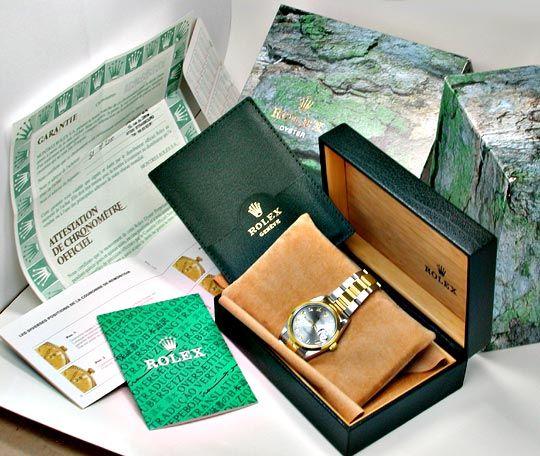 Foto 5, Rolex Datejust Oyster Herrenuhr Stahlgold Topuhr Neuz.!, U1982