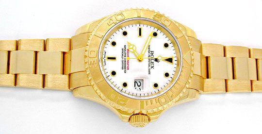 Foto 1, Rolex Hr Yachtmaster Gold Oysterlock Geprüft Ungetragen, U1985