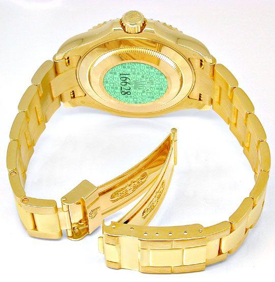 Foto 3, Rolex Hr Yachtmaster Gold Oysterlock Geprüft Ungetragen, U1985