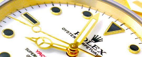 Foto 4, Rolex Hr Yachtmaster Gold Oysterlock Geprüft Ungetragen, U1985