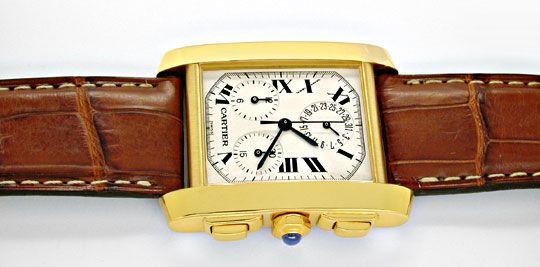 Foto 1, Cartier Herren Tank Francaise Chronograph Topuhr Neuz.!, U1989