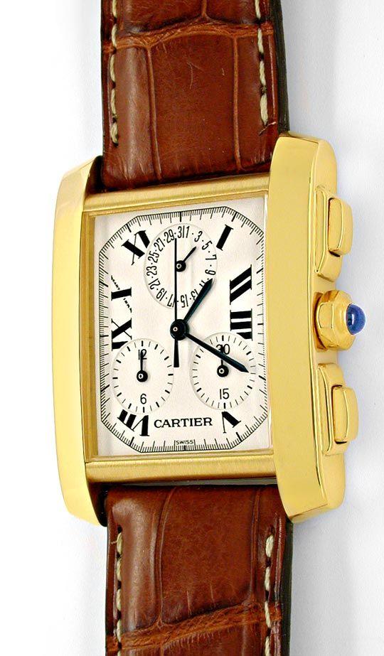 Foto 2, Cartier Herren Tank Francaise Chronograph Topuhr Neuz.!, U1989